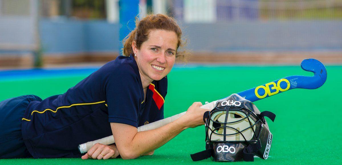 María López de Eguilaz, portera de la selección española de hockey. Foto: Juan Carlos Soler