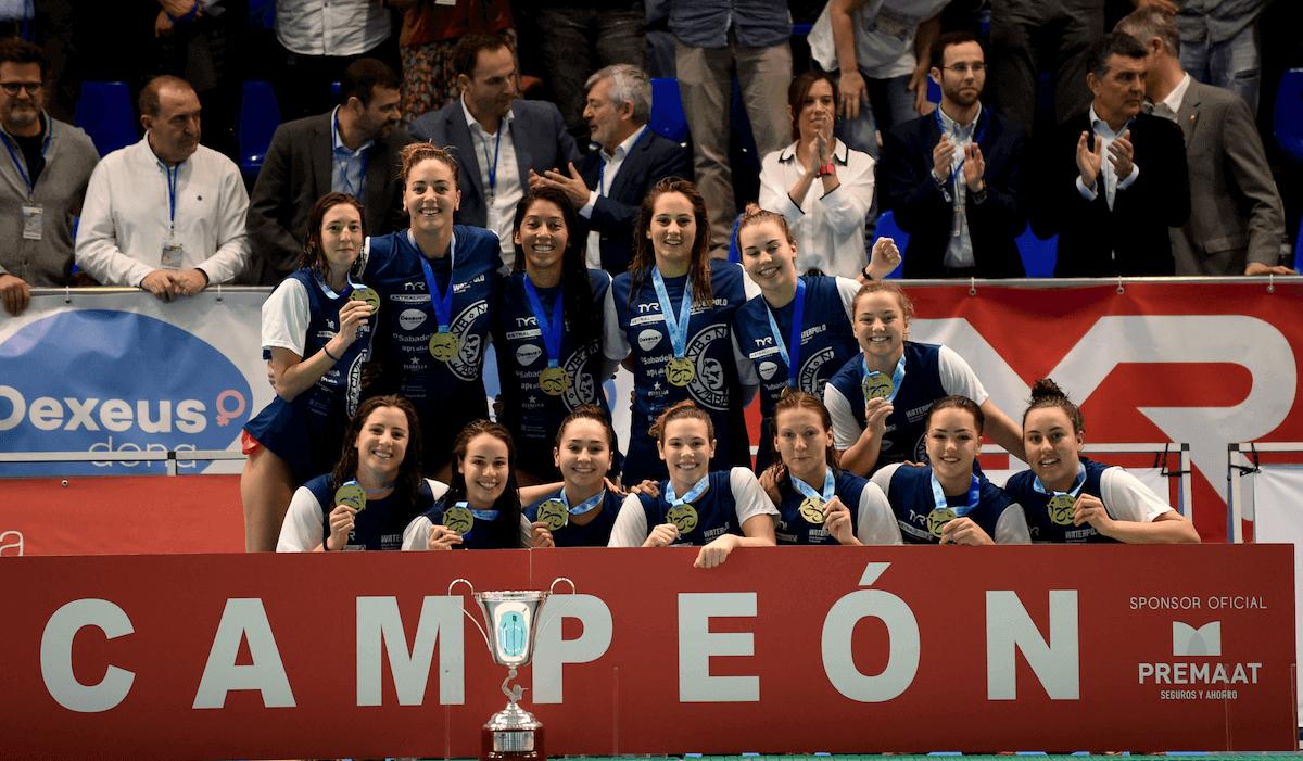 CN Sabadell campeonas de la Copa de la Reina de waterpolo